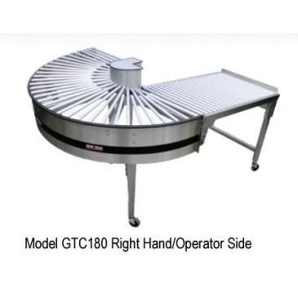"180 Degree Gravity Turnaround Conveyor 22"" Wide by HEAT SEAL"