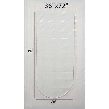 "Case of 6 - 36"" x 72"" - Zipper Doors for Shrink Wrap Project Access"