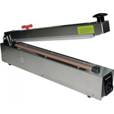 "Hand Heat Sealer 20"" w/ Cutter Stainless Steel 2mm Seal AIE-500HCS"