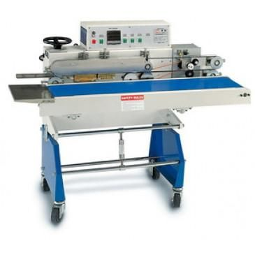 Band Sealer 30'/min Continuous Vertical w/ Stand & Hot Stamp Imprinter AIE-B7202