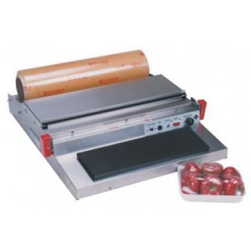 """Manual Food Overwrapper 20"""" Stainless Steel w/ 15"""" x 5"""" Hot Plate AIE-HW500"""