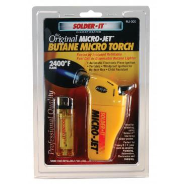 Micro-Jet™ Automatic Ignition Torch (Refillable Fuel Cell Included)