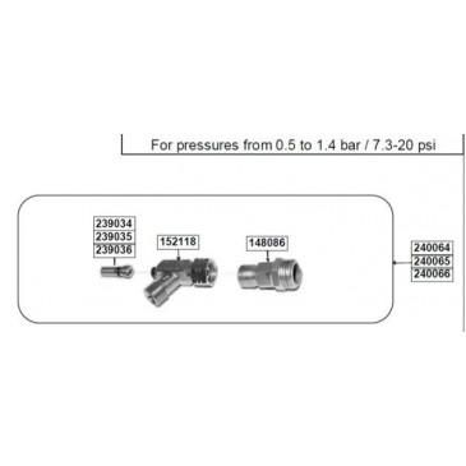 Ripack 2000 & 2200 Heat Gun Conversion kit NatGas 38-44psi
