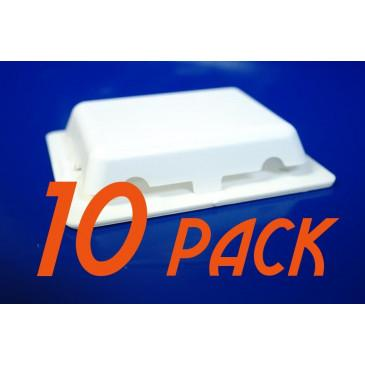 10-Pack Weather Tight Self-Adhesive Shrink Wrap Vent