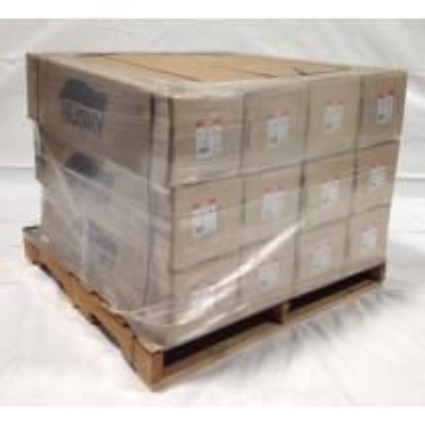 18' x 200' 7 Mil Husky Brand Shrink Wrap - White - Pallet of 12 Rolls