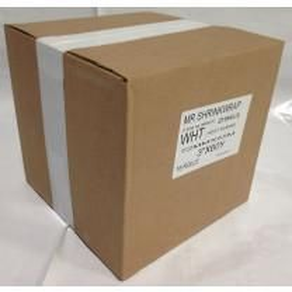 "Case of 3"" x 180' Shrink Film Tape - 16 Rolls - White - MSW-703W-Case"