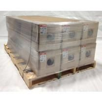 32' x 186' 7 Mil Husky Brand Shrink Wrap - Blue - Pallet of 6 Rolls