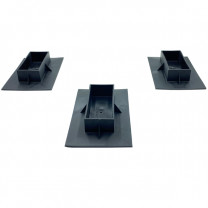 3-Pack of Bottom Caps for Shrink Wrap Installation Support Poles