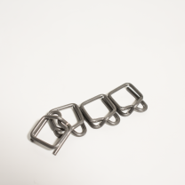 """1/2"""" Self-Locking Metal Buckle for Shrink Wrap Strapping Systems - 25"""