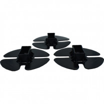 3-Pack of End Caps for Shrink Wrap Installation Support Poles