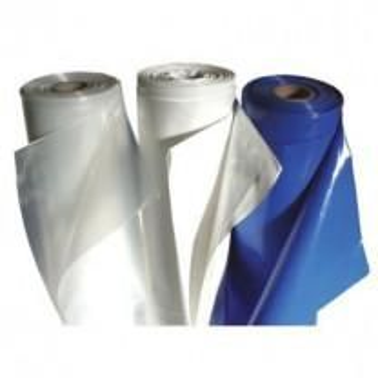 26' x 62' 9 Mil Husky Brand Fire Retardant Shrink Wrap - White
