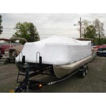 26' Pontoon Universal (4' Height) Boat Cover by Transhield