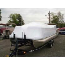 18' Pontoon Universal (4' Height) Boat Cover by Transhield