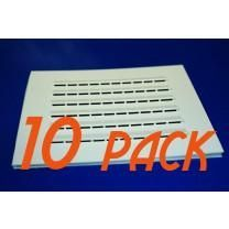 10-Pack Rectangular Adhesive Vent