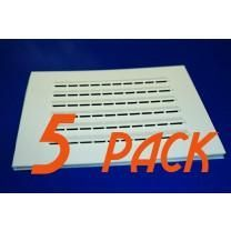 5-Pack Rectangular Adhesive Vent