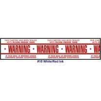 "Printed Tape ""Warning Pilfer Proof Tape"" 2""W x 165' - Case of 36 Rolls"