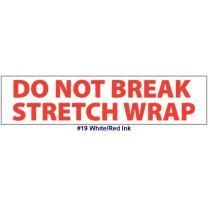 "Printed Tape ""Do Not Break Stretch Wrap"" 2""W x 165' - Case of 36 Rolls"