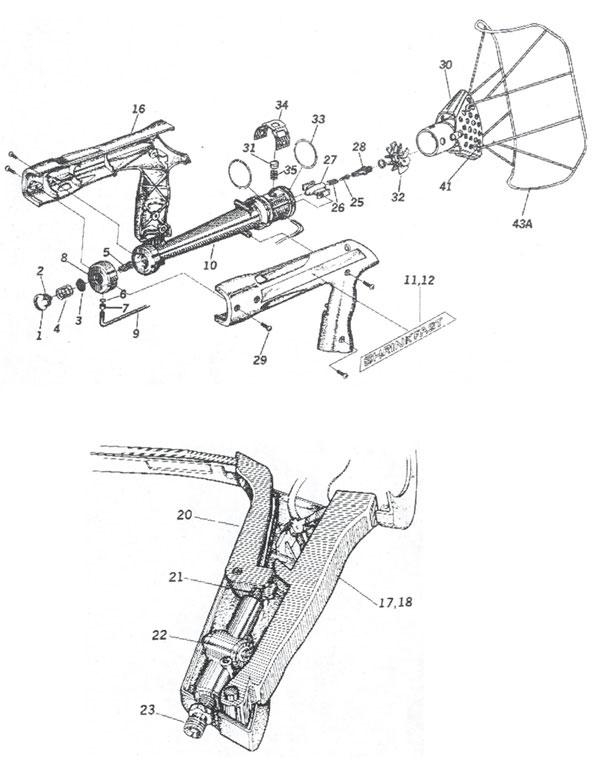 Shrinkfast 998 Heat Gun Hose Assembly