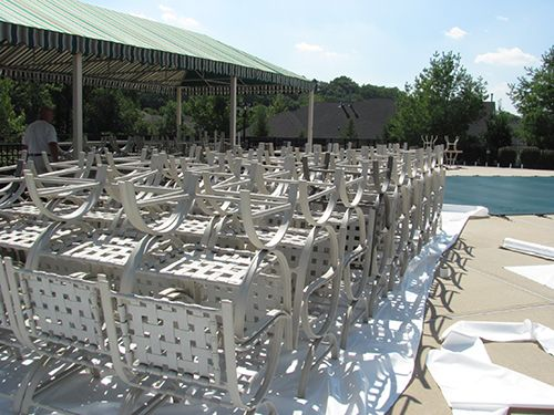 Shrink Wrapped Outdoor Furniture