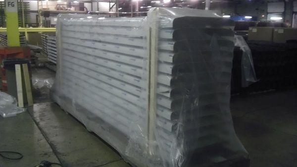clear shrink wrap cover for goods in transport