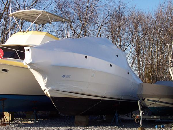 Power Boat Shrink Wrapped